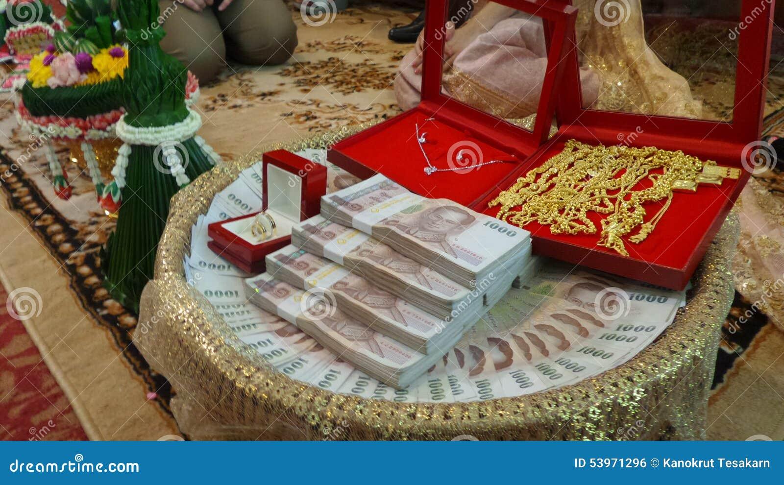Cadeau Pour La Famille De Jeune Mariee Dans La Ceremonie De Mariage