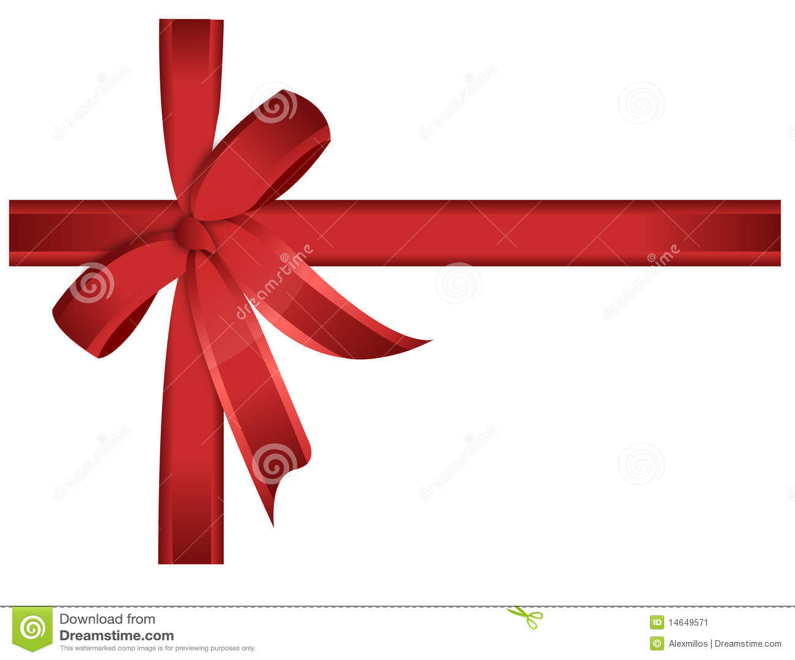 cadeau rouge bande proue vecteur image stock image 14649571. Black Bedroom Furniture Sets. Home Design Ideas
