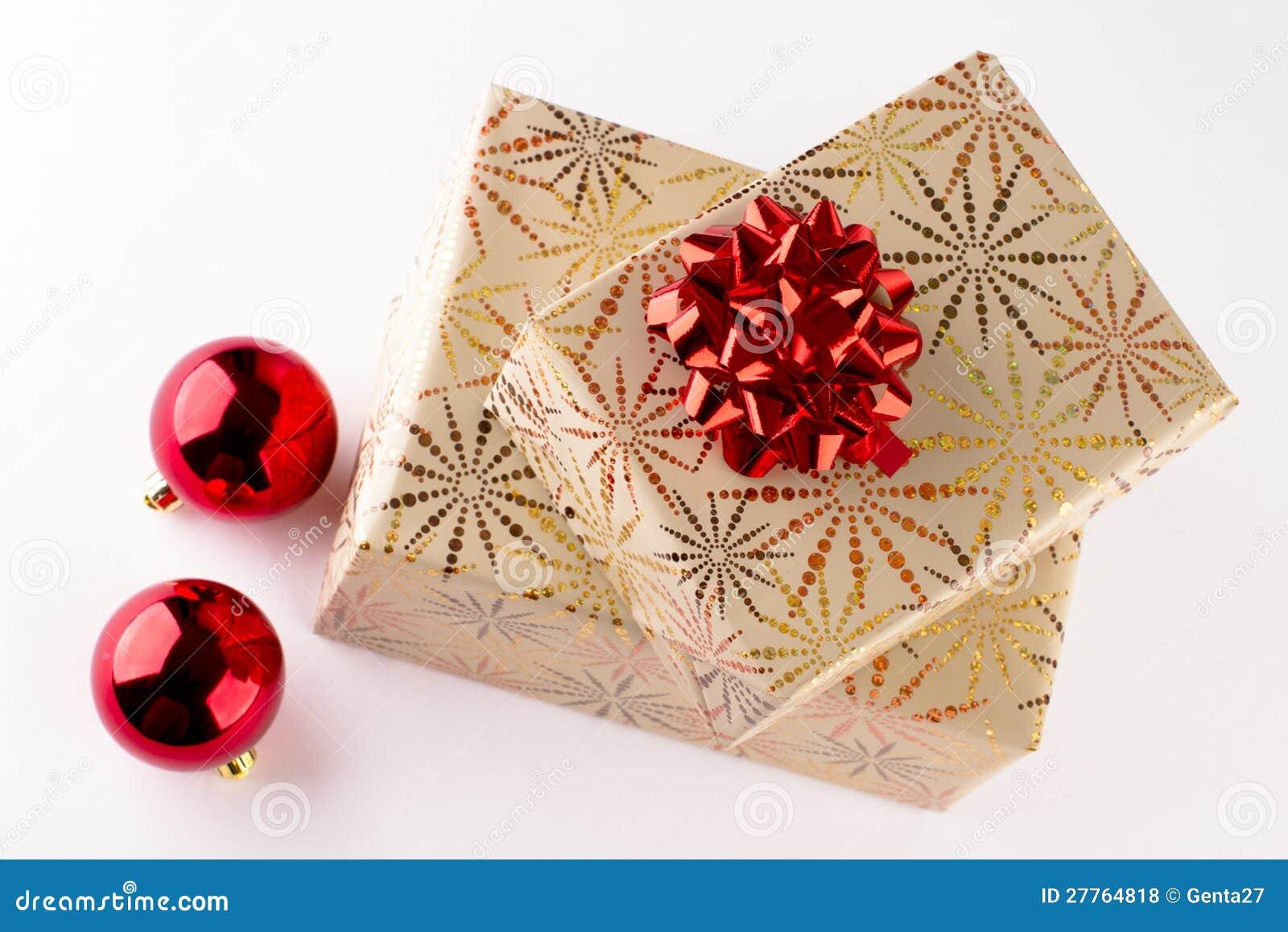 Cadeaux avec les flacons rouges