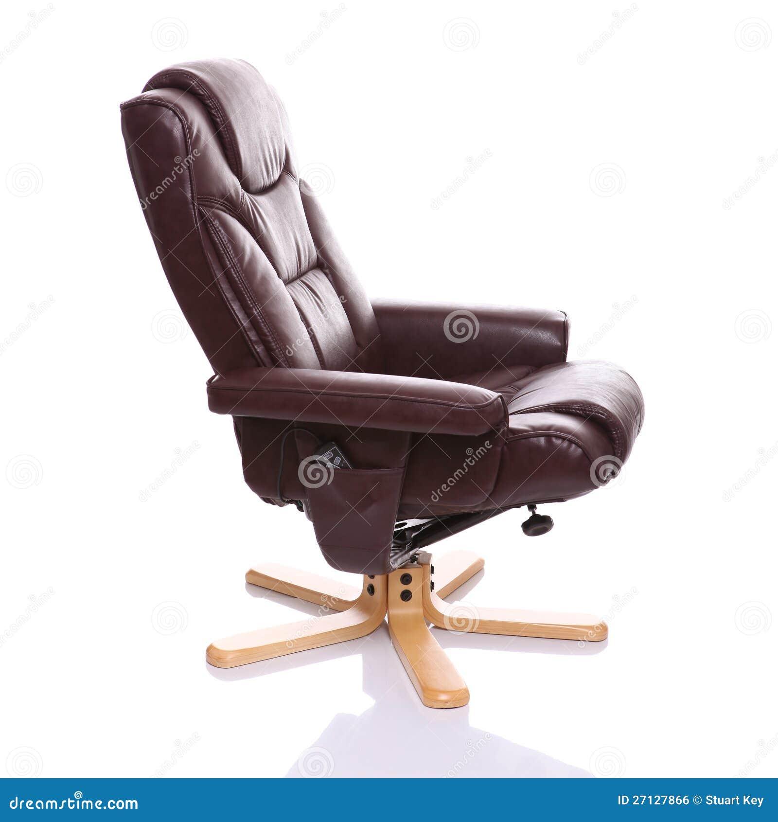 Cadeira De Couro Do Recliner De Brown Imagem de Stock Royalty Free  #83A427 1300x1390