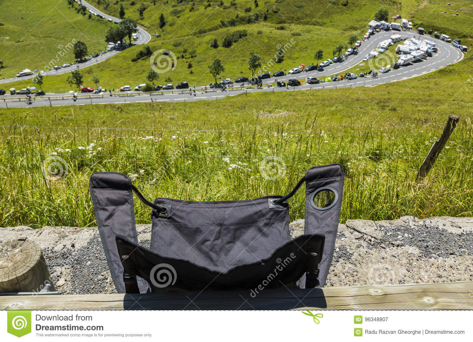 A cadeira de dobradura de um espectador - Tour de France 2014