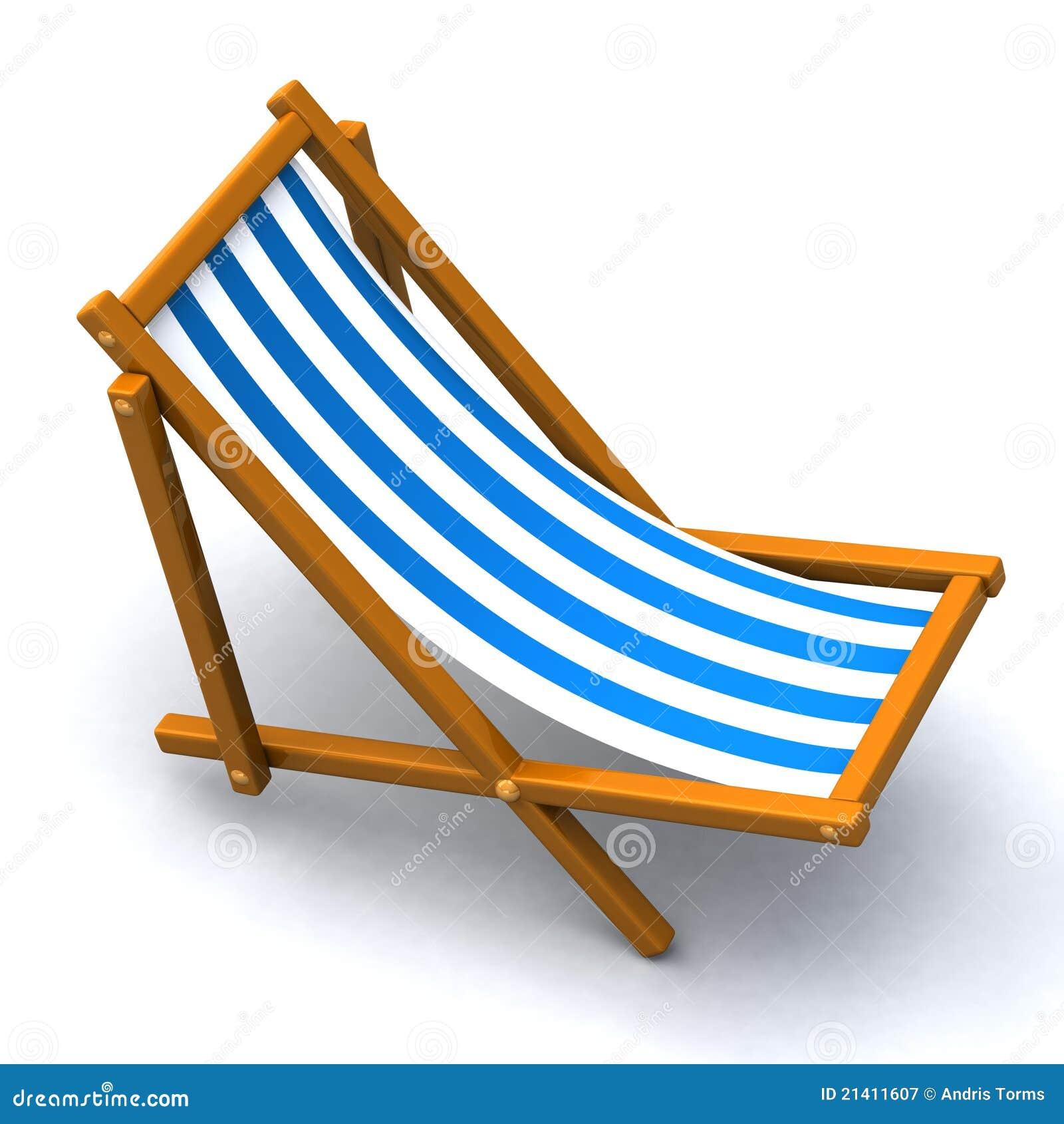 Cadeira De Praia 3d Fotografia de Stock Royalty Free Imagem  #0C6DBF 1300x1390