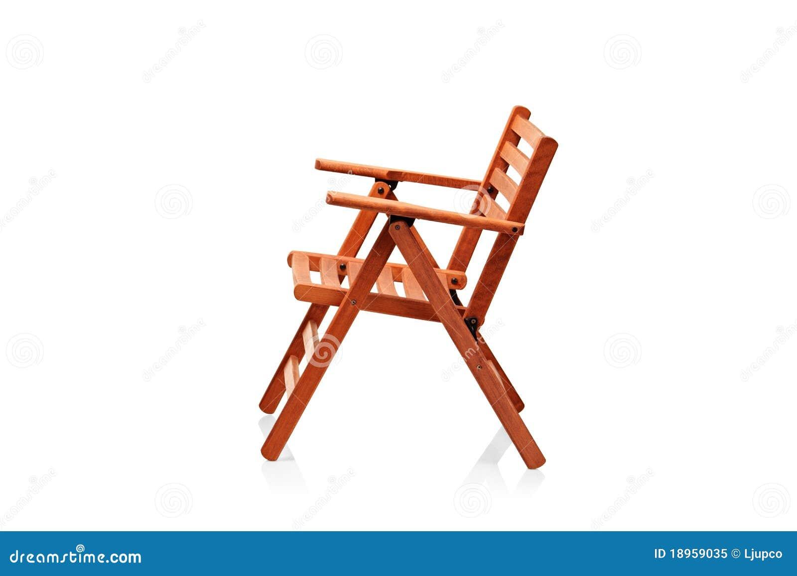 Cadeira De Praia De Dobramento De Madeira Foto de Stock Royalty Free  #933016 1300x957
