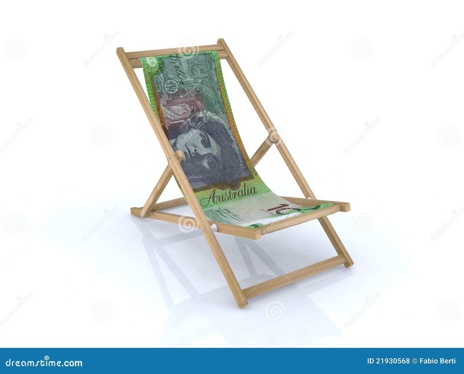#81A229 Cadeira De Praia De Madeira Com Notas Australianas Fotos de Stock  1300x1064 px cadeira de madeira para descanso @ bernauer.info Móveis Antigos Novos E Usados Online