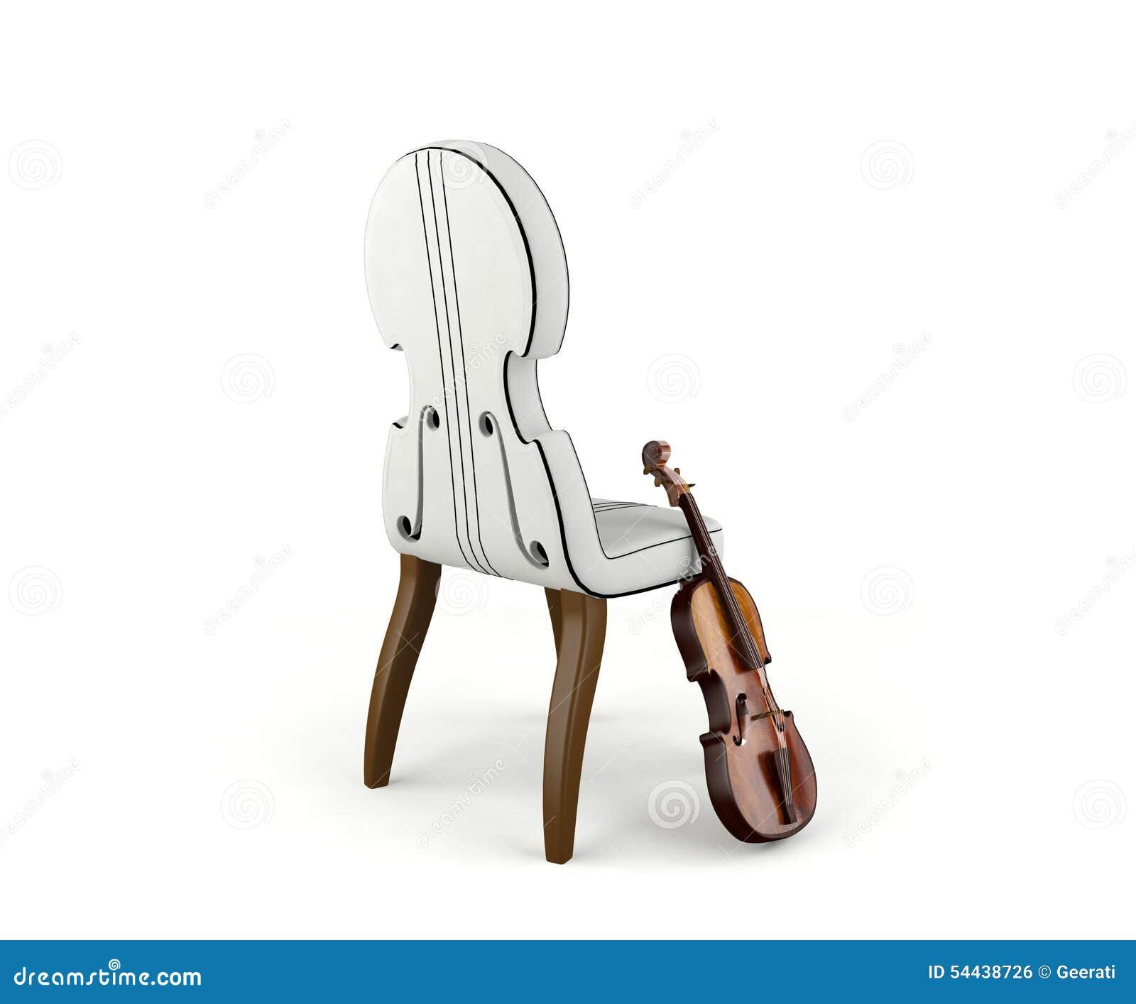Cadeira Do Violino E Do Conceito Do Violino Foto De Stock Imagem  # Muebles Violino