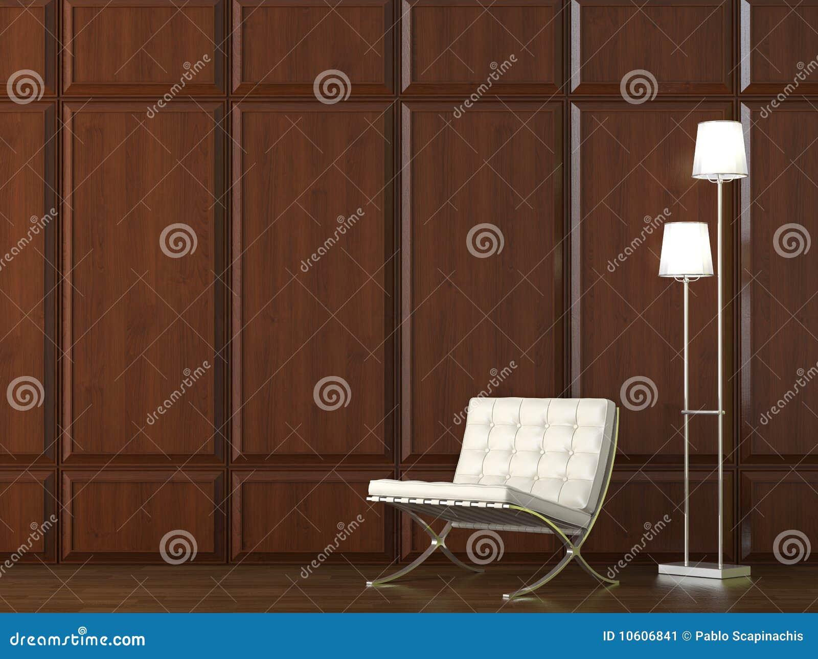 Cadeira Na Parede De Madeira Do Revestimento Imagem de Stock Imagem  #85AA21 1300x1065