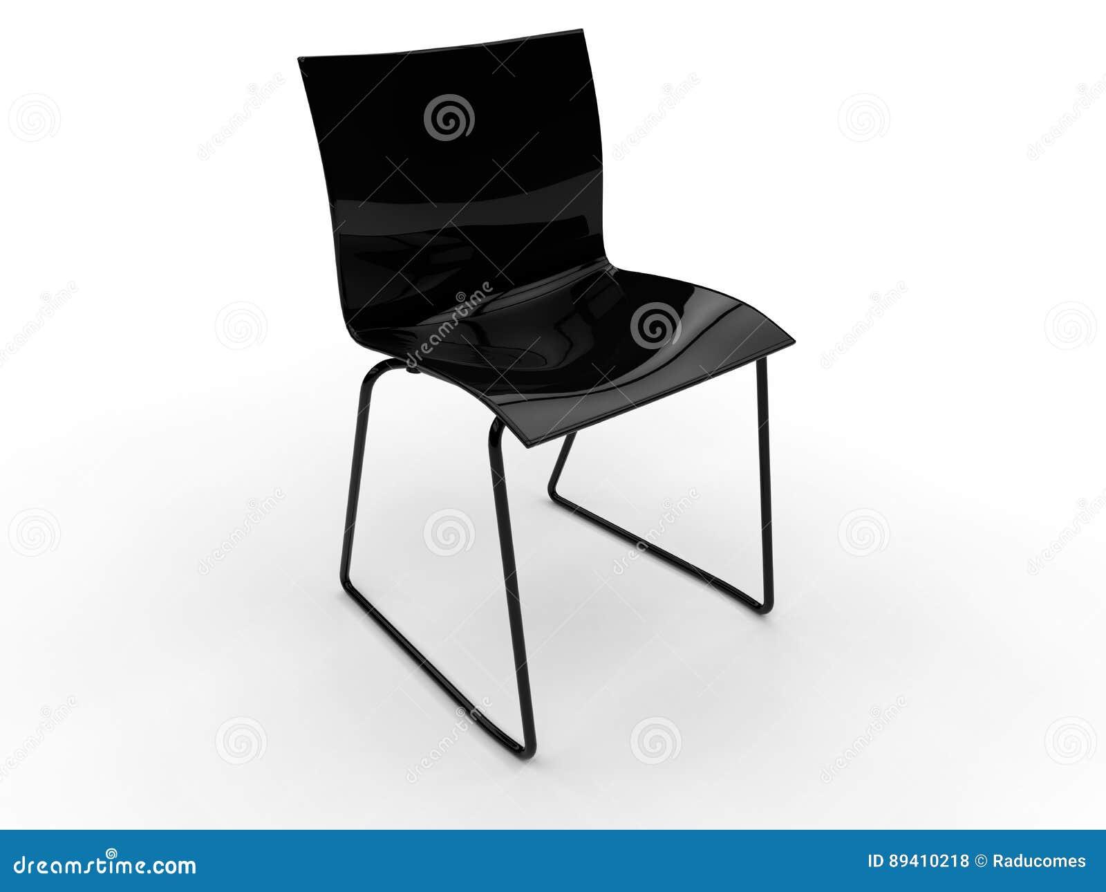 Cadeira preta simples