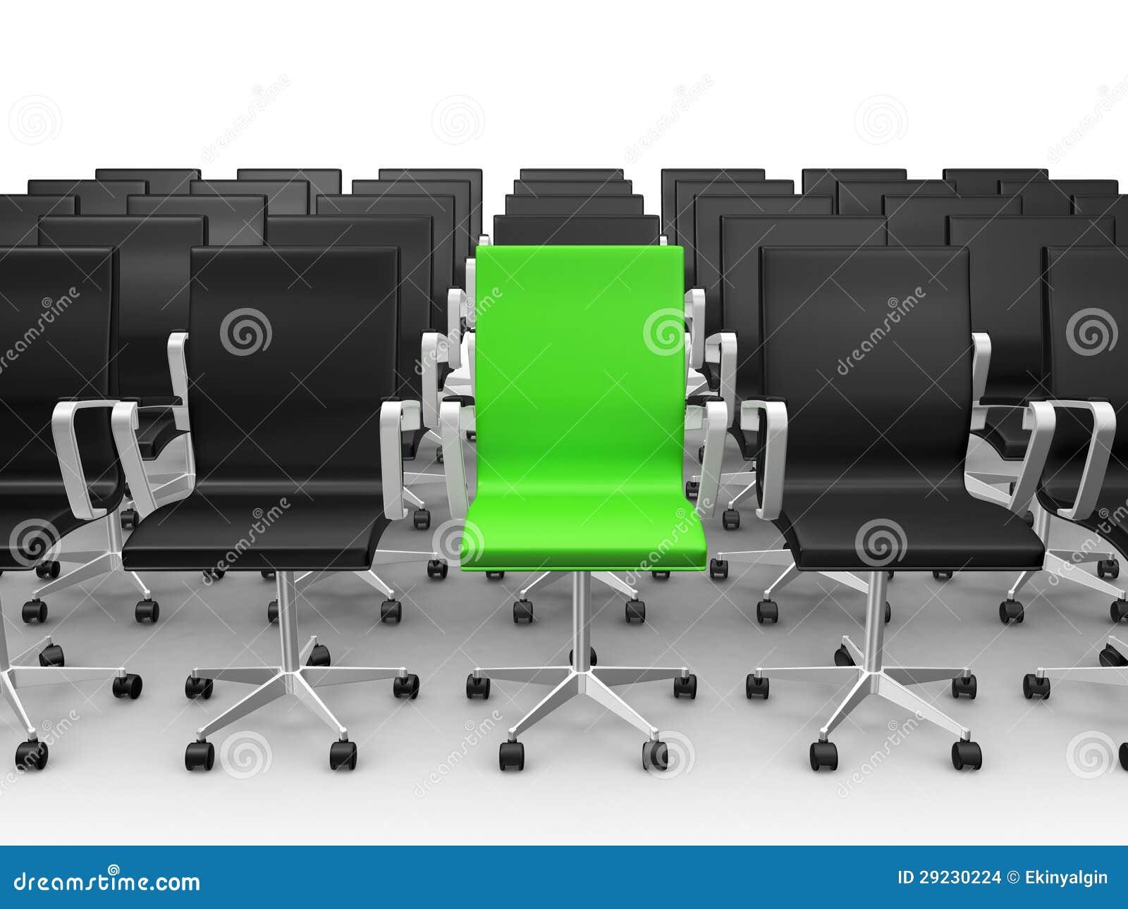 Download Cadeira Verde Na Sala De Conferências Ilustração Stock - Ilustração de diferença, cliente: 29230224