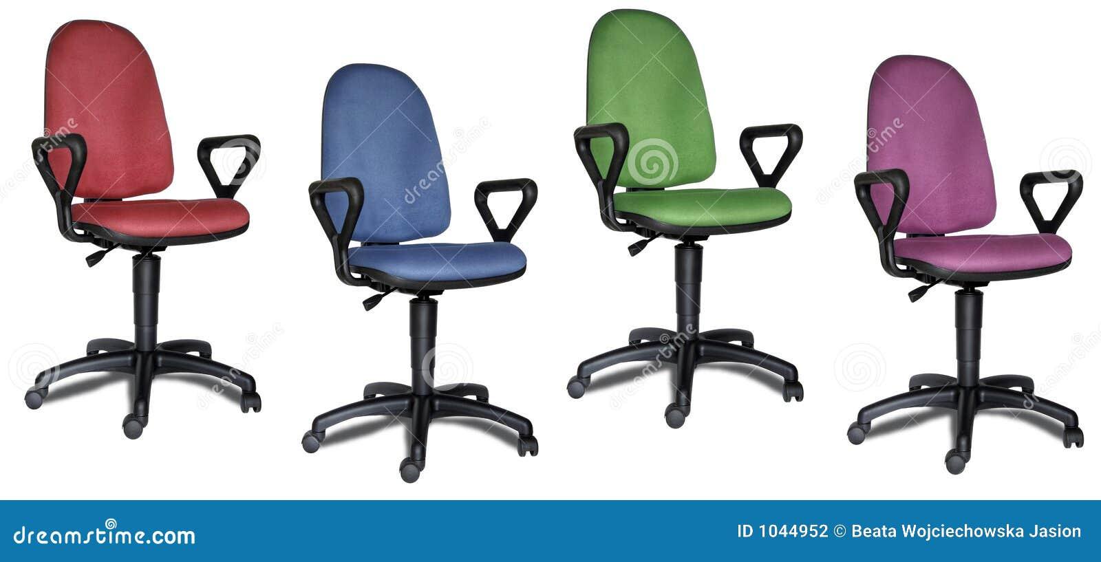 Cadeiras coloridas do escritório