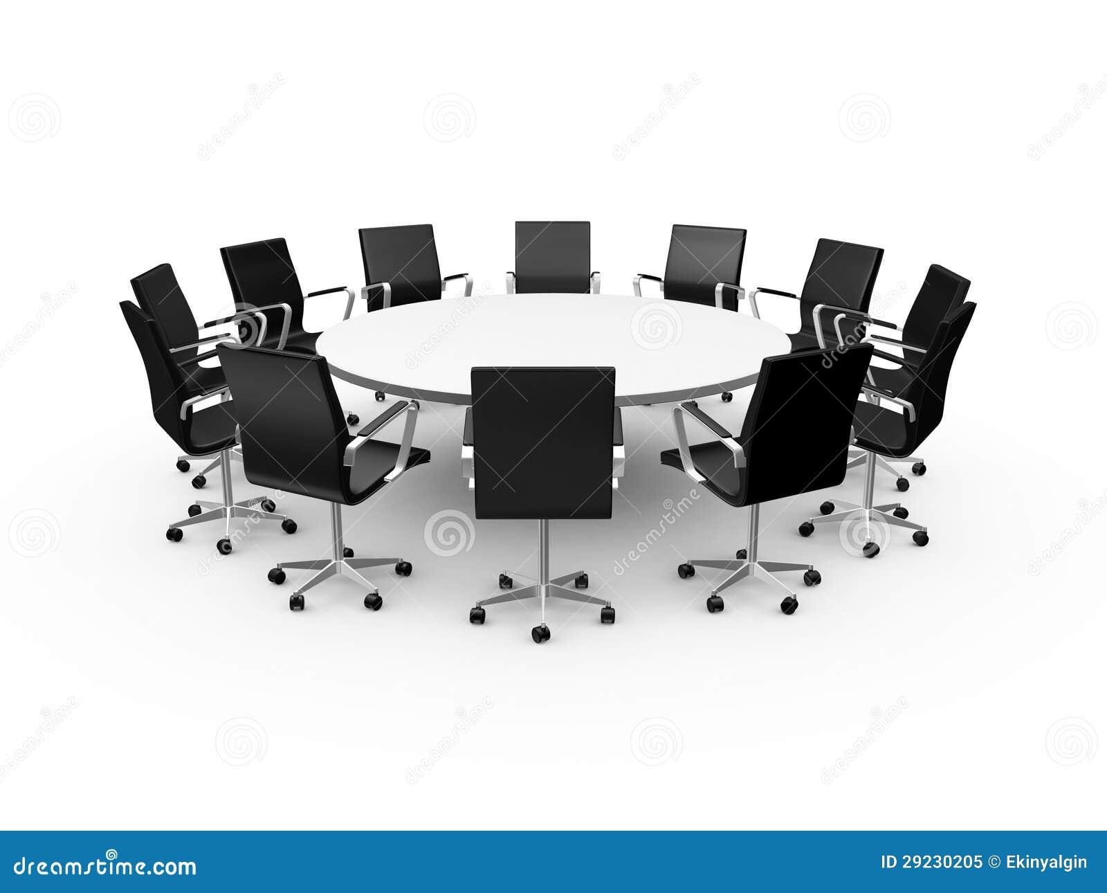 Download Cadeiras Da Tabela E Do Escritório De Conferência Ilustração Stock - Ilustração de companhia, rede: 29230205