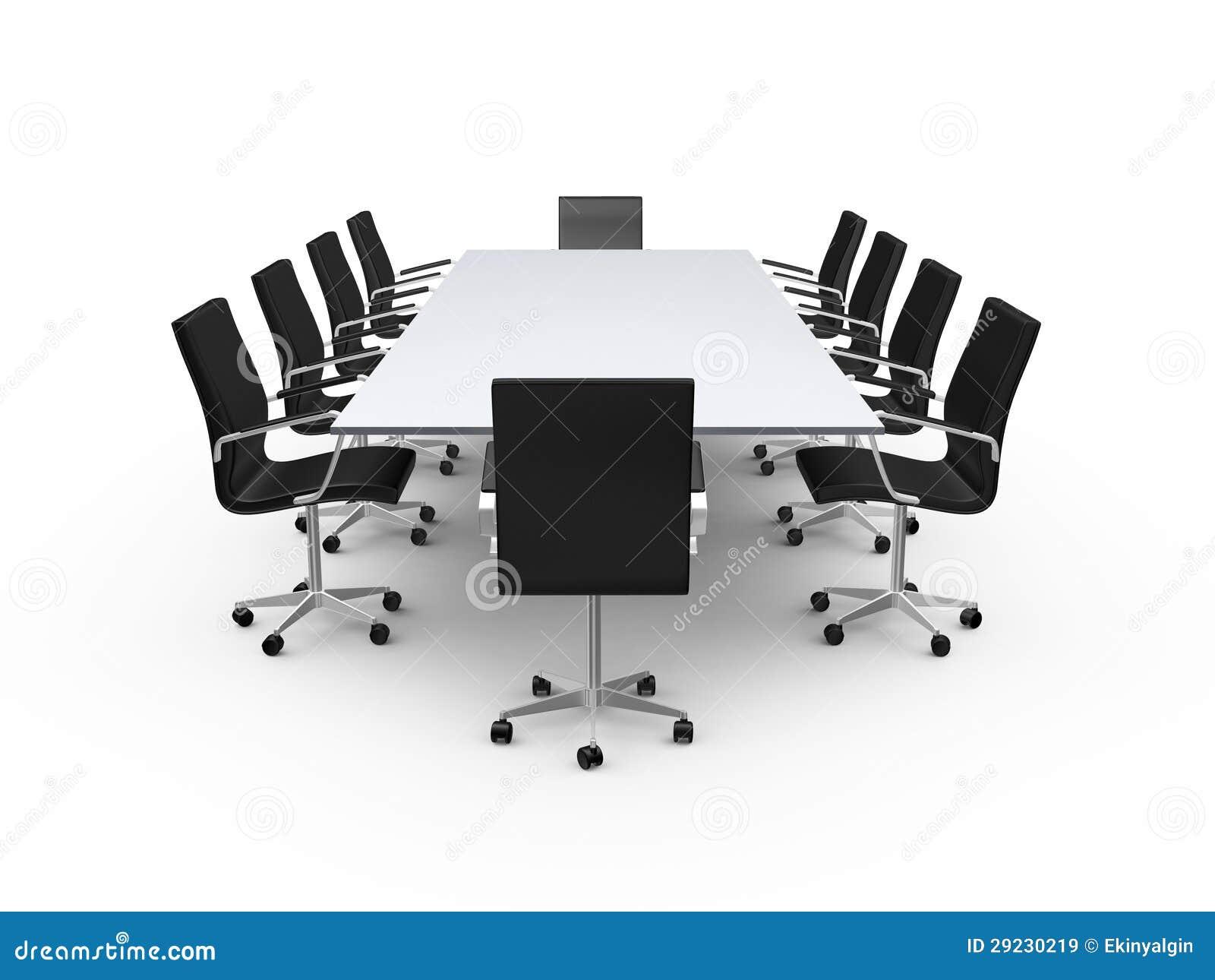 Download Cadeiras Da Tabela E Do Escritório De Conferência Ilustração Stock - Ilustração de recolhimento, multidão: 29230219