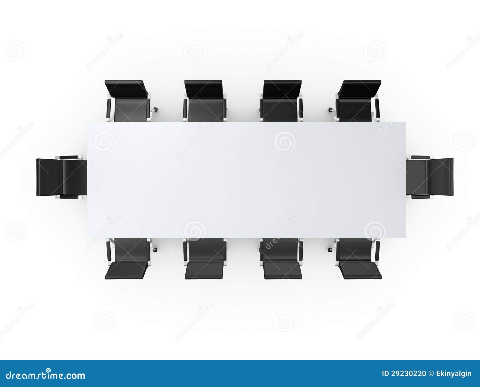 Download Cadeiras Da Tabela E Do Escritório De Conferência Ilustração Stock - Ilustração de vazio, interior: 29230220