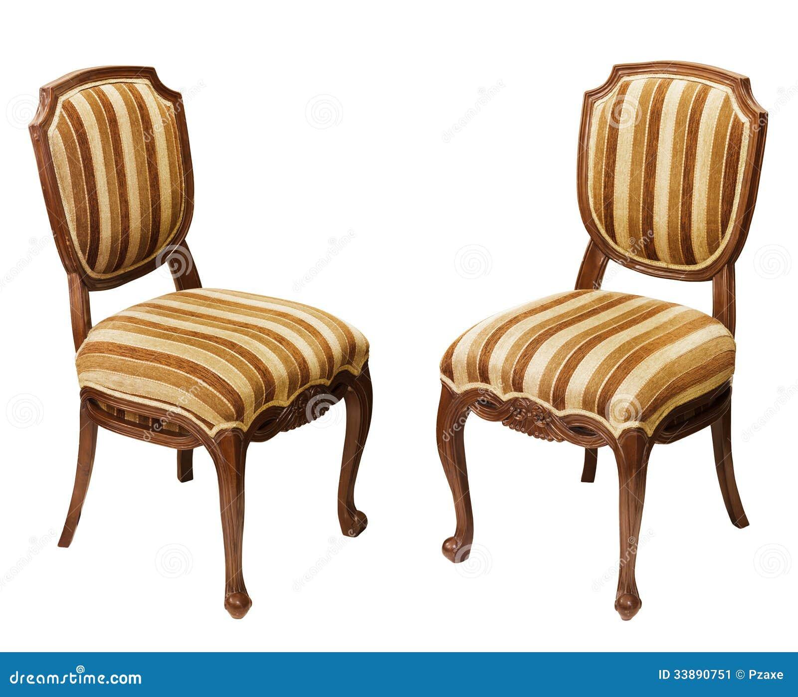 Cadeiras De Madeira Antigas Isoladas No Fundo Branco Imagem de Stock  #85A724 1300x1153