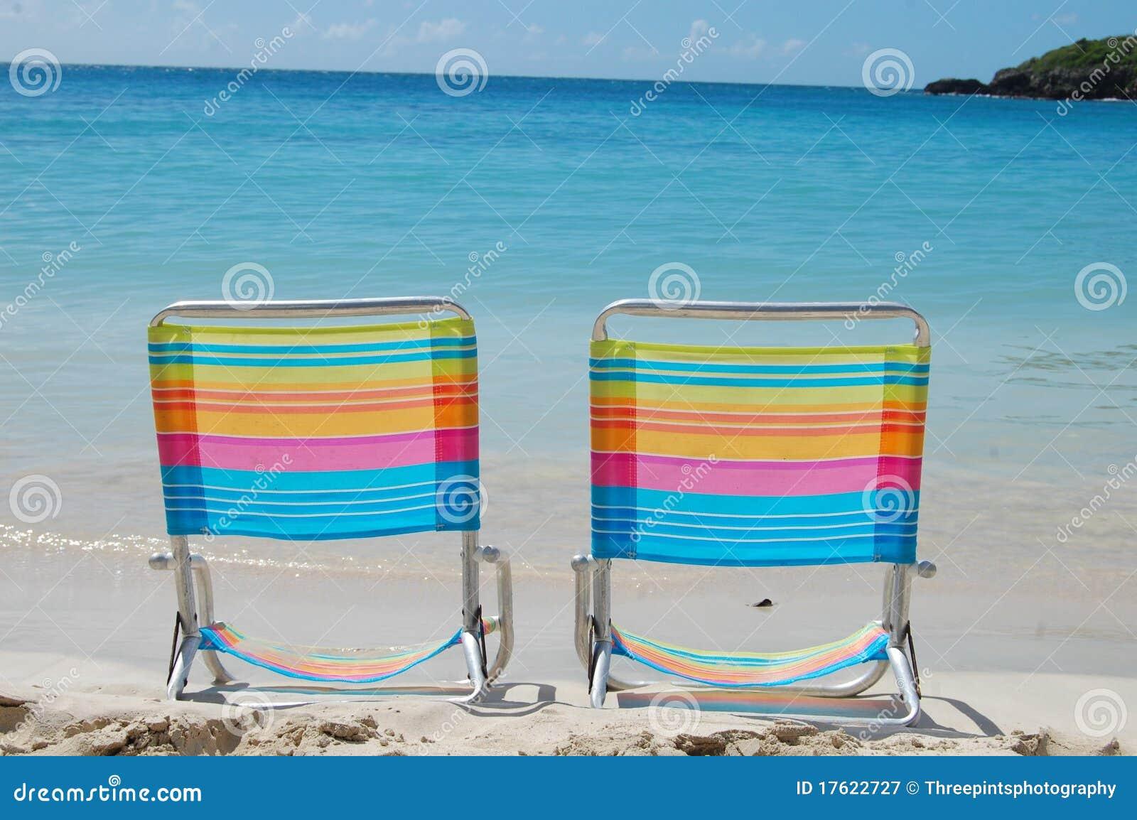 Cadeiras De Praia Coloridas Fotografia de Stock Royalty Free Imagem  #1599B6 1300x954