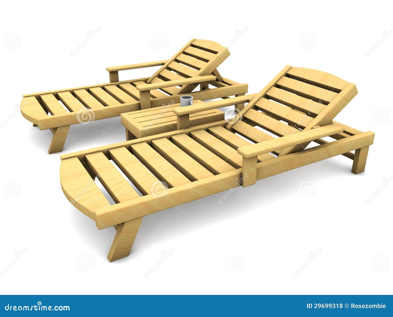 Cadeiras De Praia 3d De Madeira Fotos de Stock Royalty Free Imagem  #BA8B11 1300x1065
