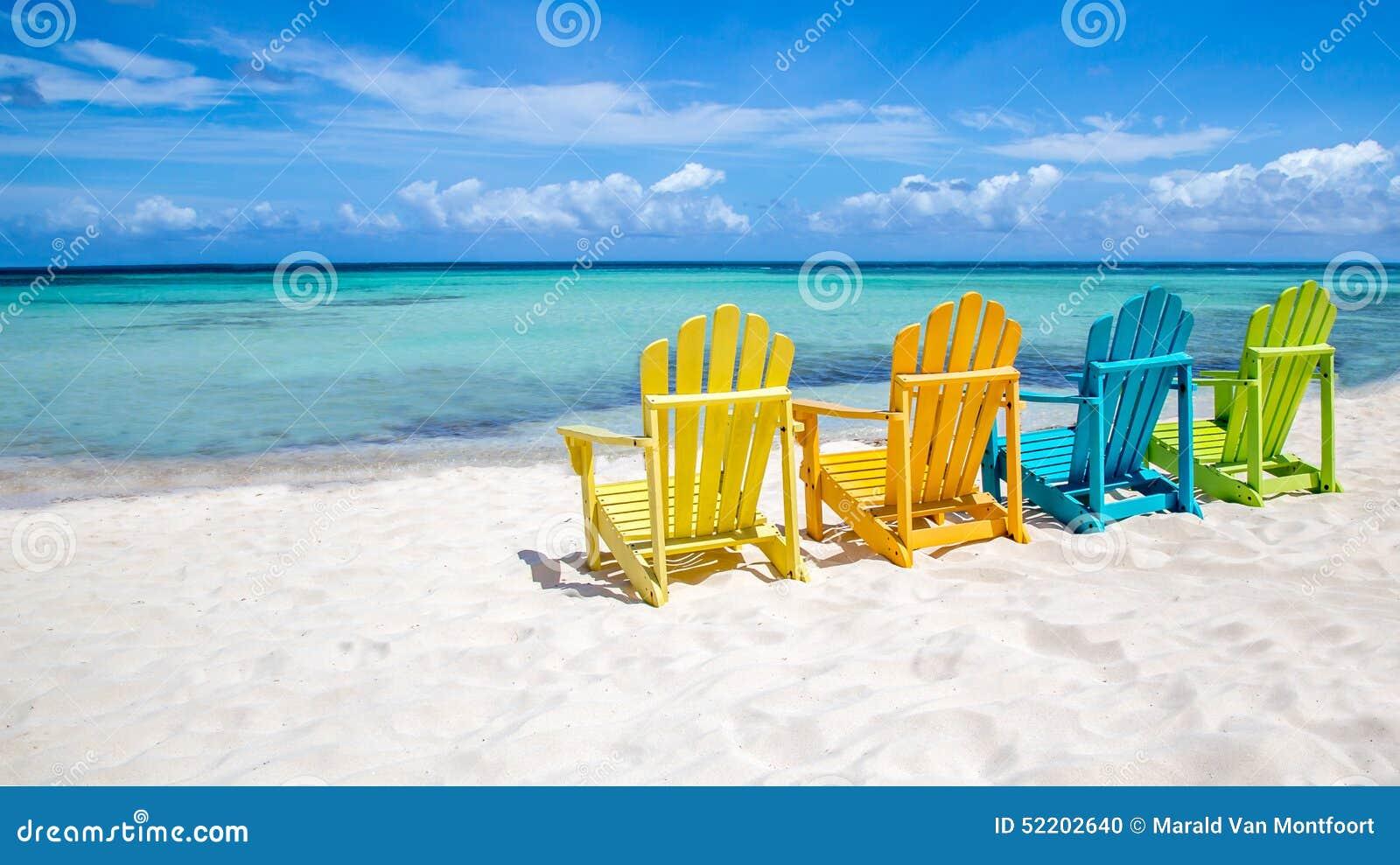 Cadeiras de praia do Cararibe