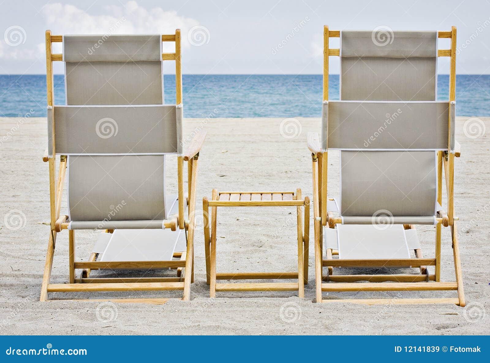 Cadeiras de praia em Miami Florida