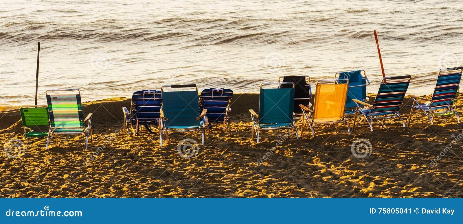 Cadeiras de praia sós