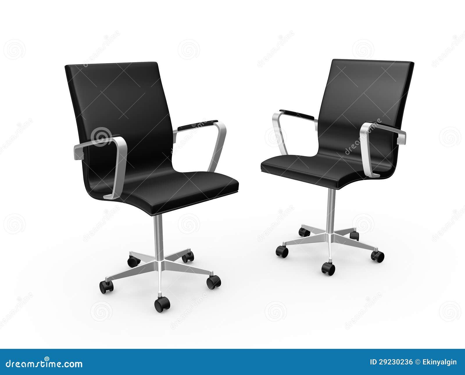 Download Cadeiras do escritório ilustração stock. Ilustração de trabalho - 29230236