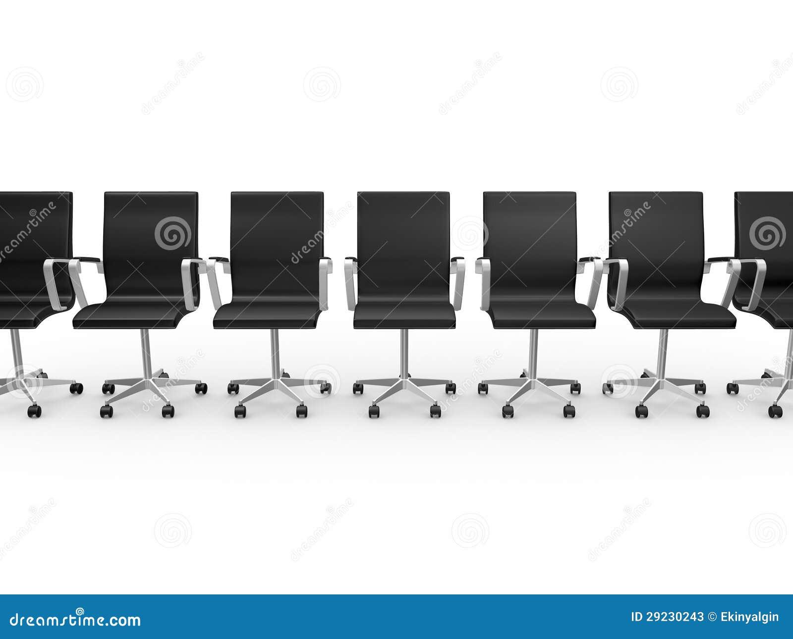 Download Cadeiras Do Escritório Em Seguido Ilustração Stock - Ilustração de conceito, discussão: 29230243