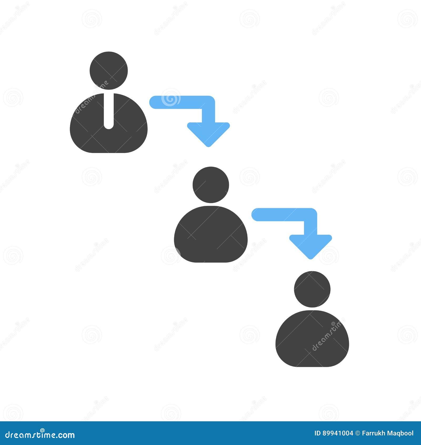 cadena de mando ilustración del vector ilustración de