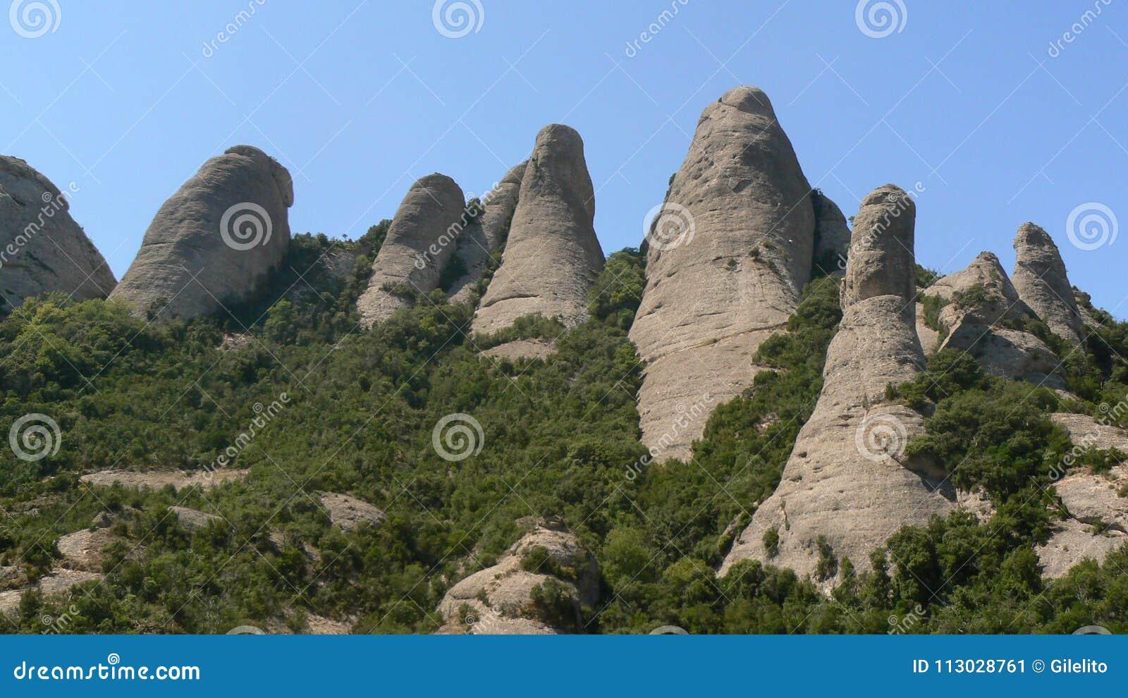 Cadena de montaña de Montserrat