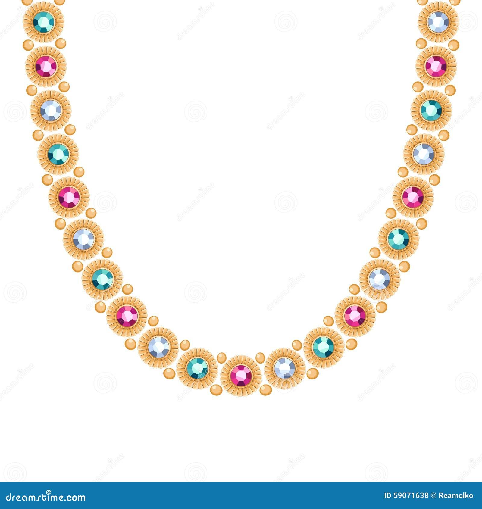 c00eaf26590f Cadena de oro con las piedras preciosas coloridas collar o pulsera Estilo  indio étnico del diseño personal del complemento