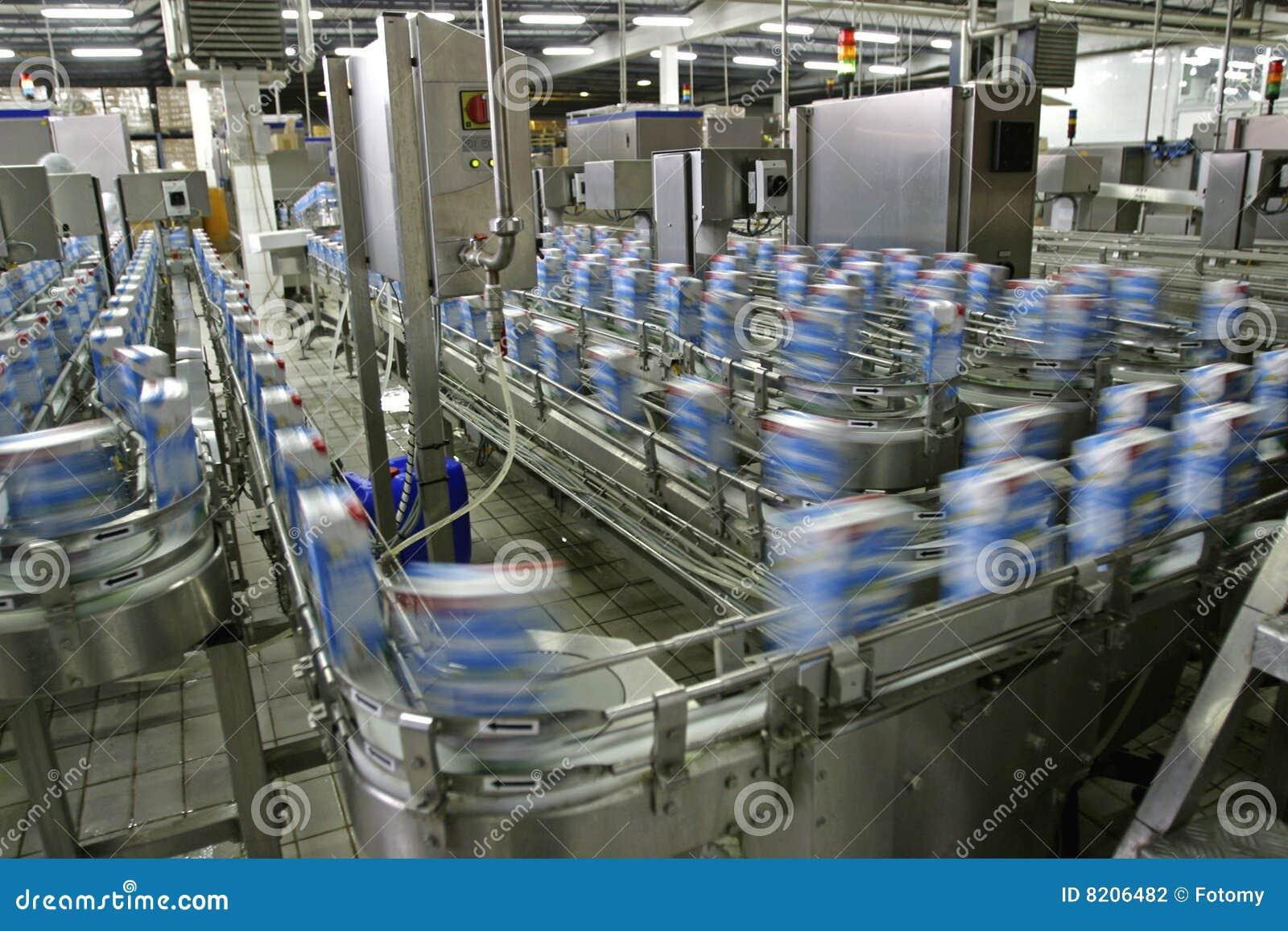 Cadena de producción en fábrica