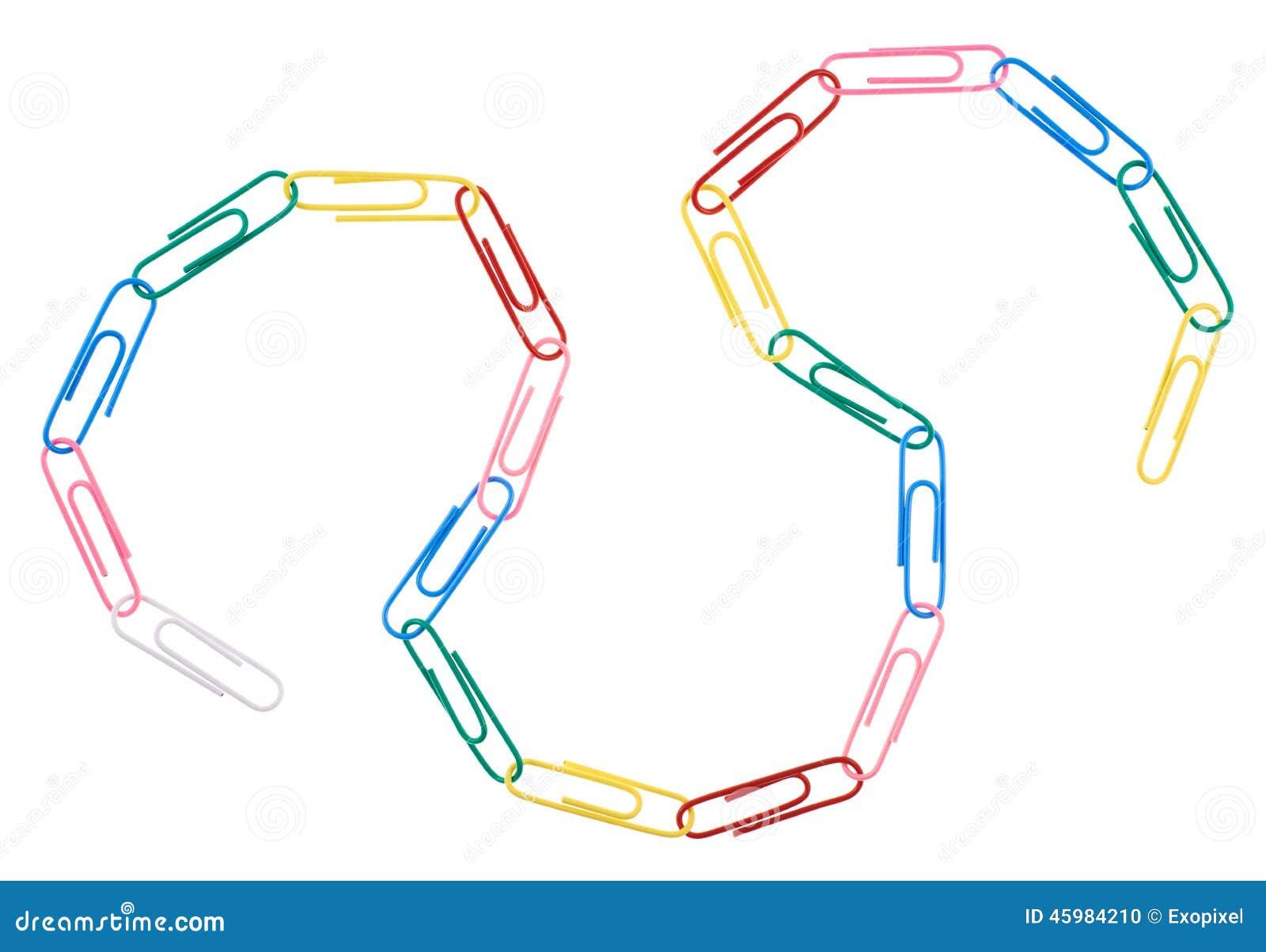 Cadena hecha de los clips de papel de la oficina foto de for Xxx porno en la oficina