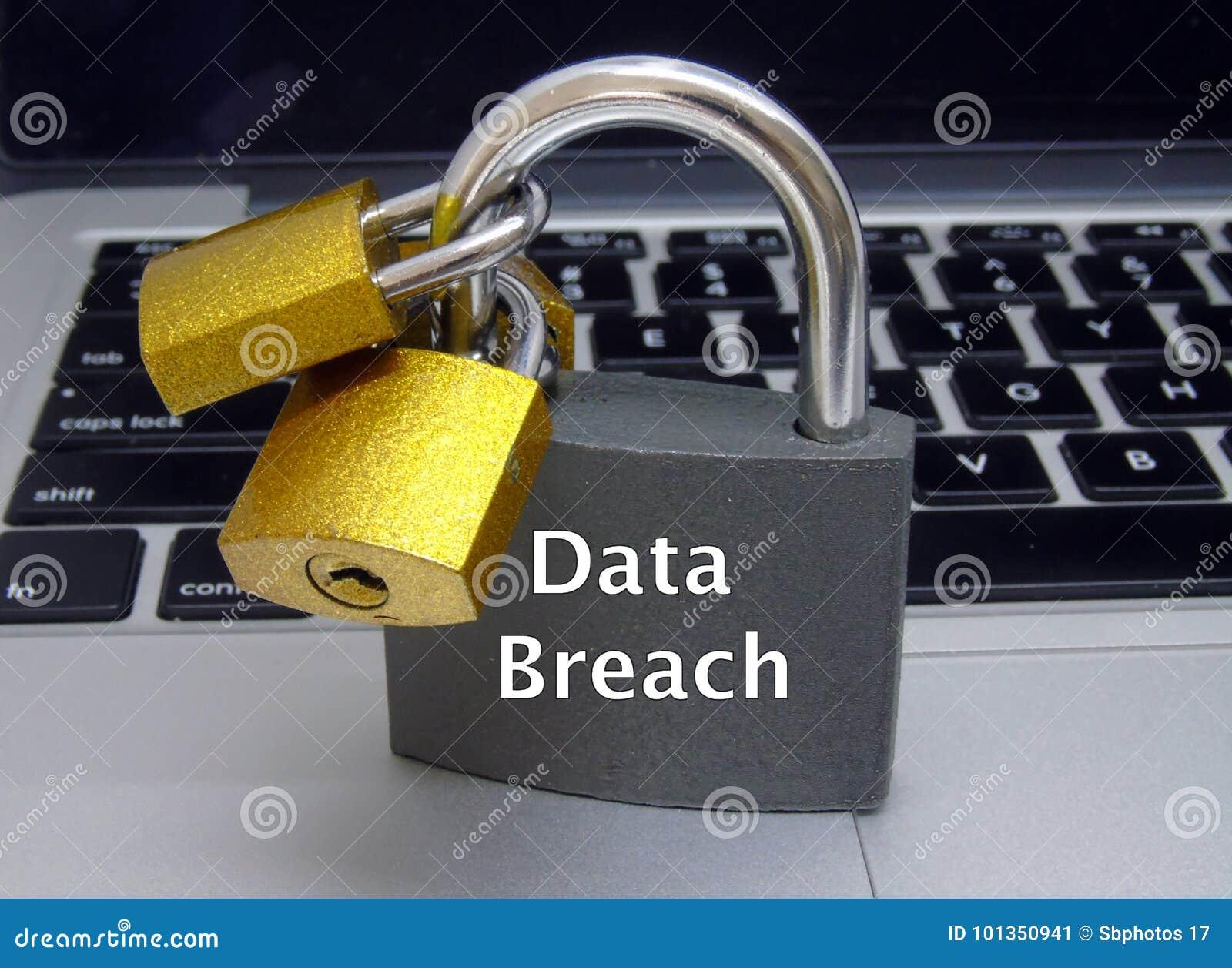 Cadenas d infraction de données sur le clavier d ordinateur portable