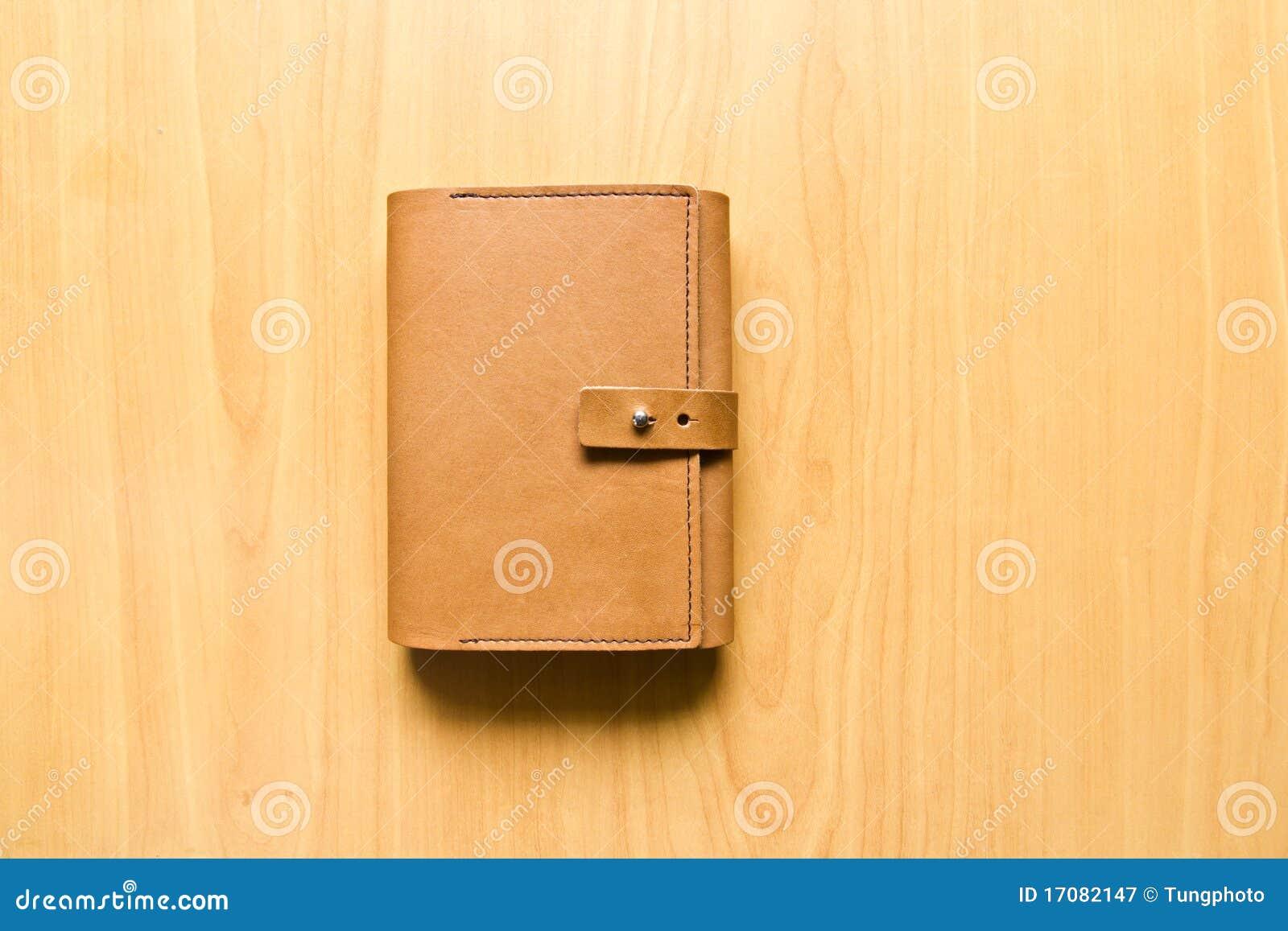 Caderno de couro do caso