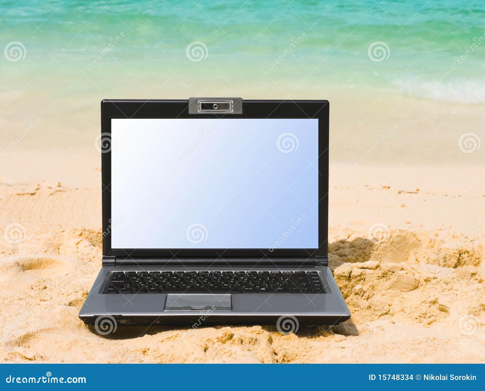 Caderno na praia