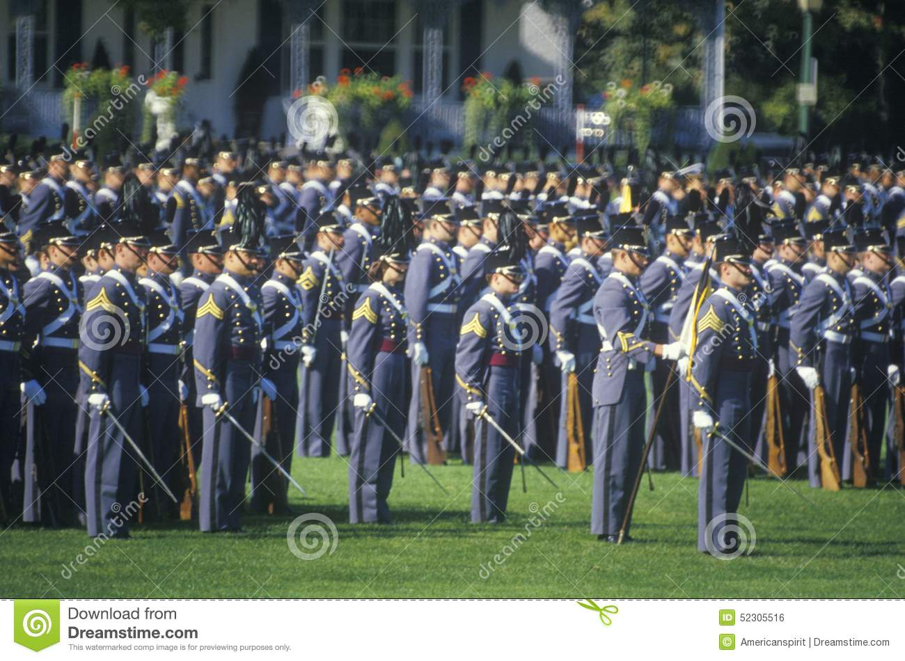 Cadets dans la formation, académie militaire de West Point, West Point, New York