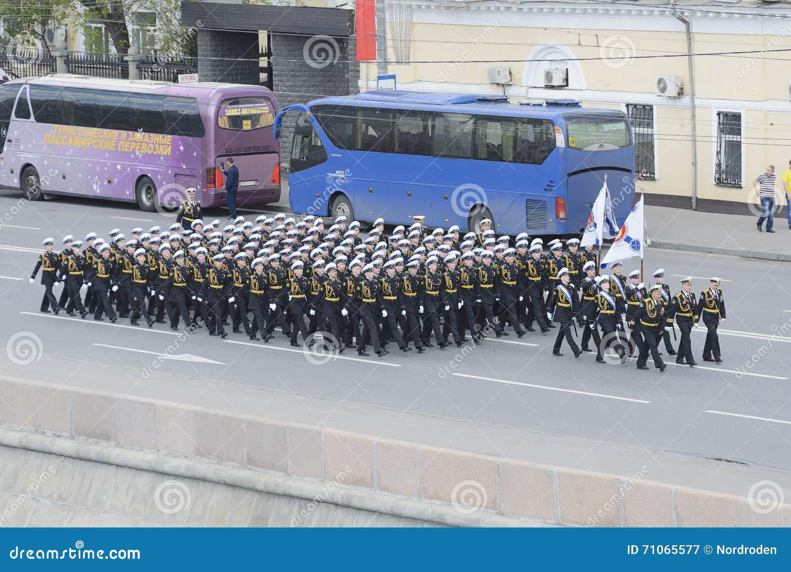 Cadets de la marche d école de Nakhimov