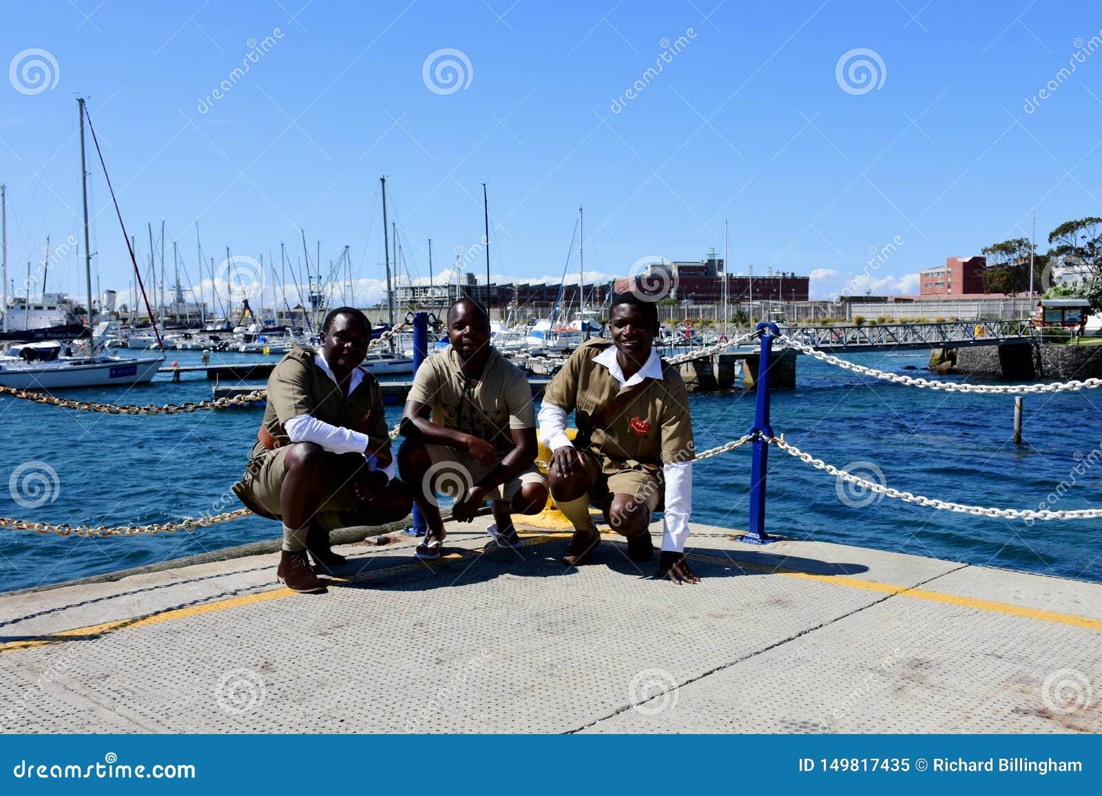 Cadets de marine, la ville de Simon, le Péninsule du Cap, Afrique du Sud