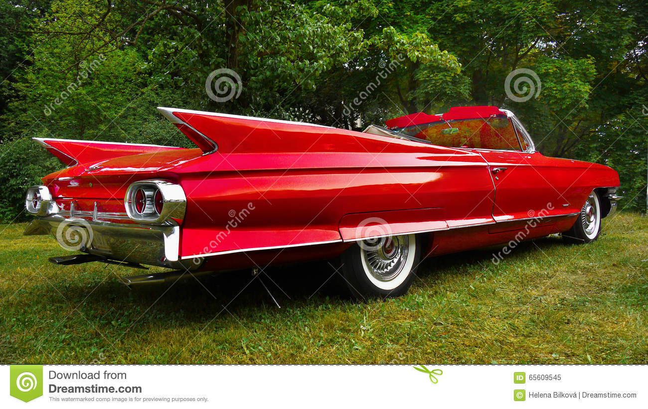 Cadillac Classic American Vintage Cars Editorial Image - Image of ...