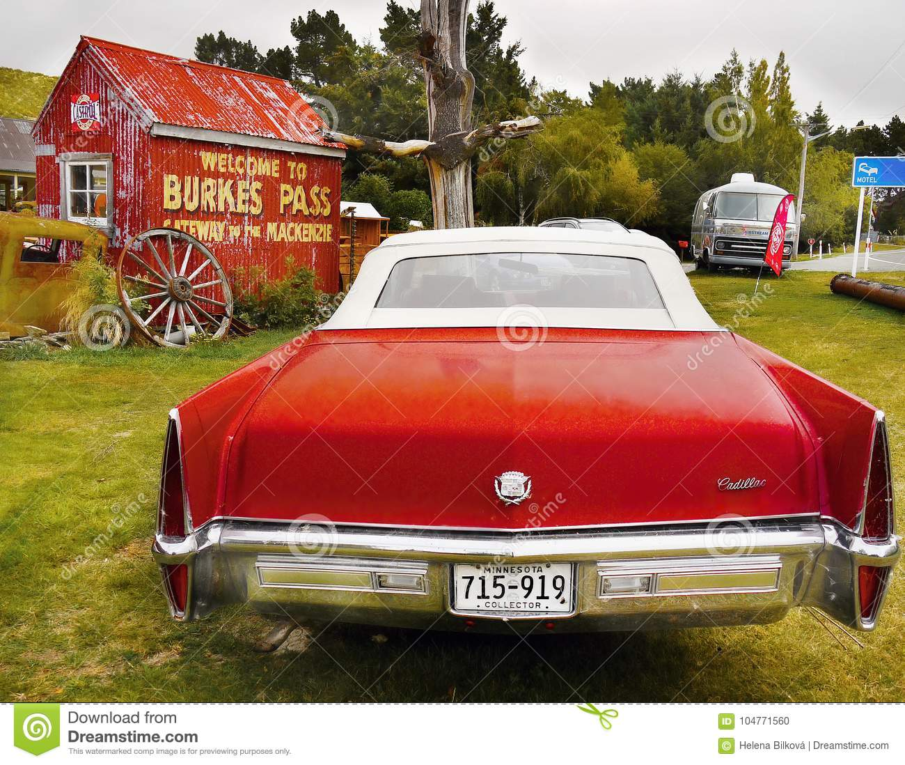 Cadillac Classic American Vintage Cars Editorial Image Image Of