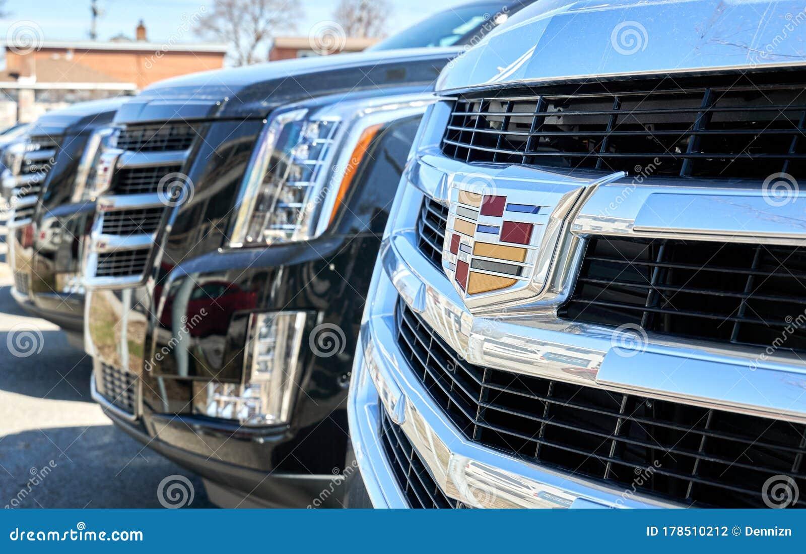 Cadillac Escalade 2020 Black Car And Logo Close-up At ...