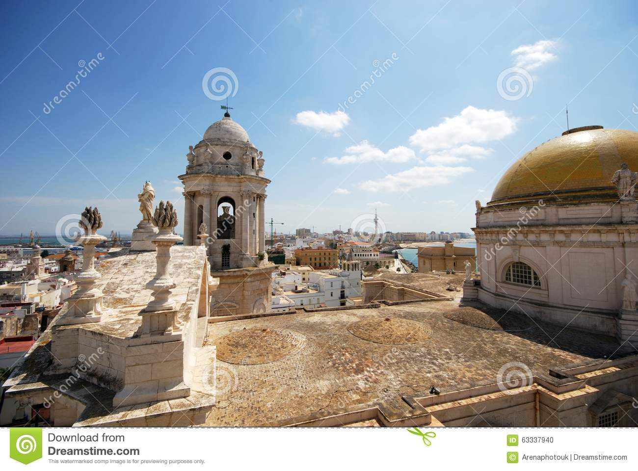 Cadiz Cathedral Rooftop.