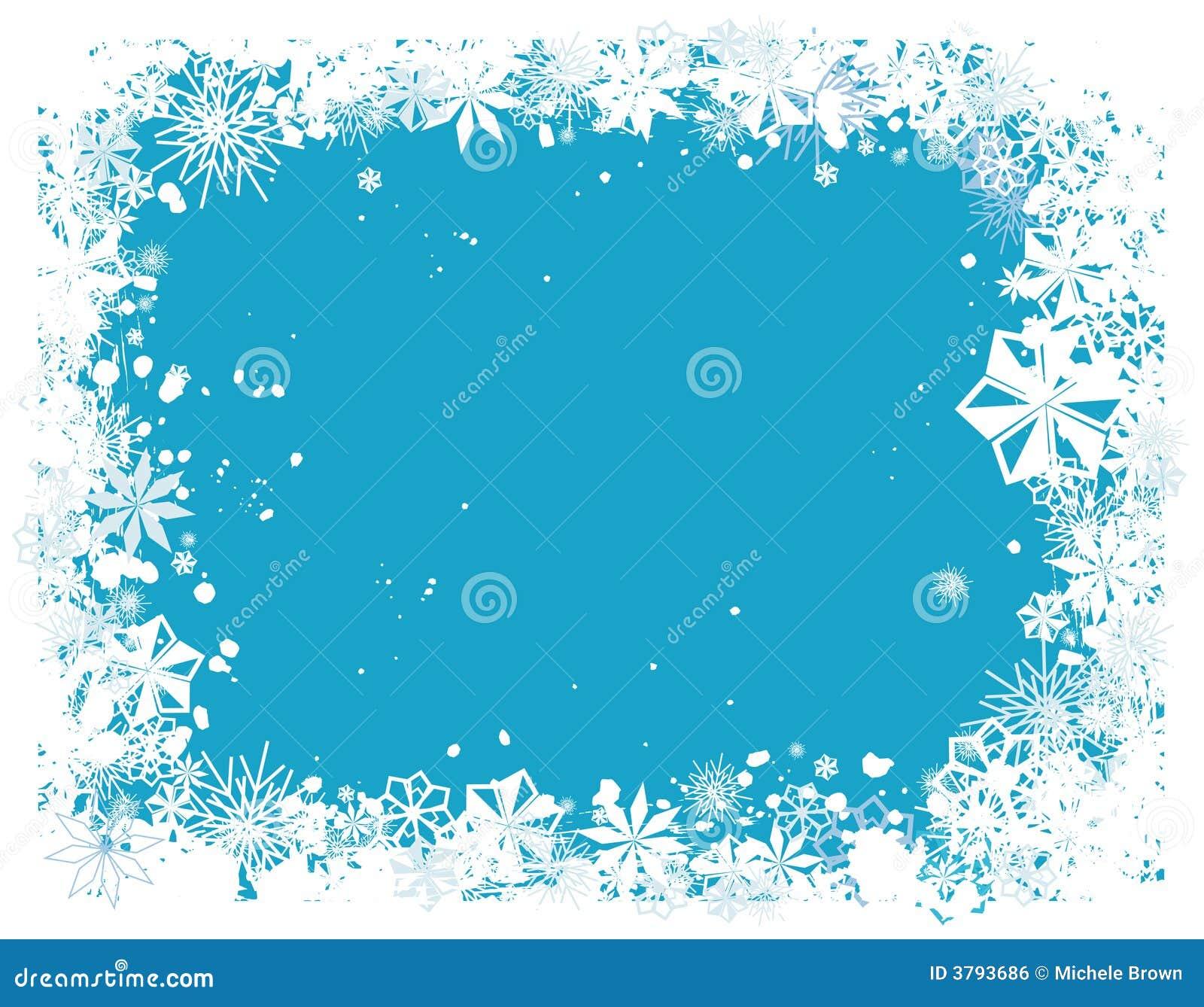 cadre 1 de flocon de neige image libre de droits image 3793686