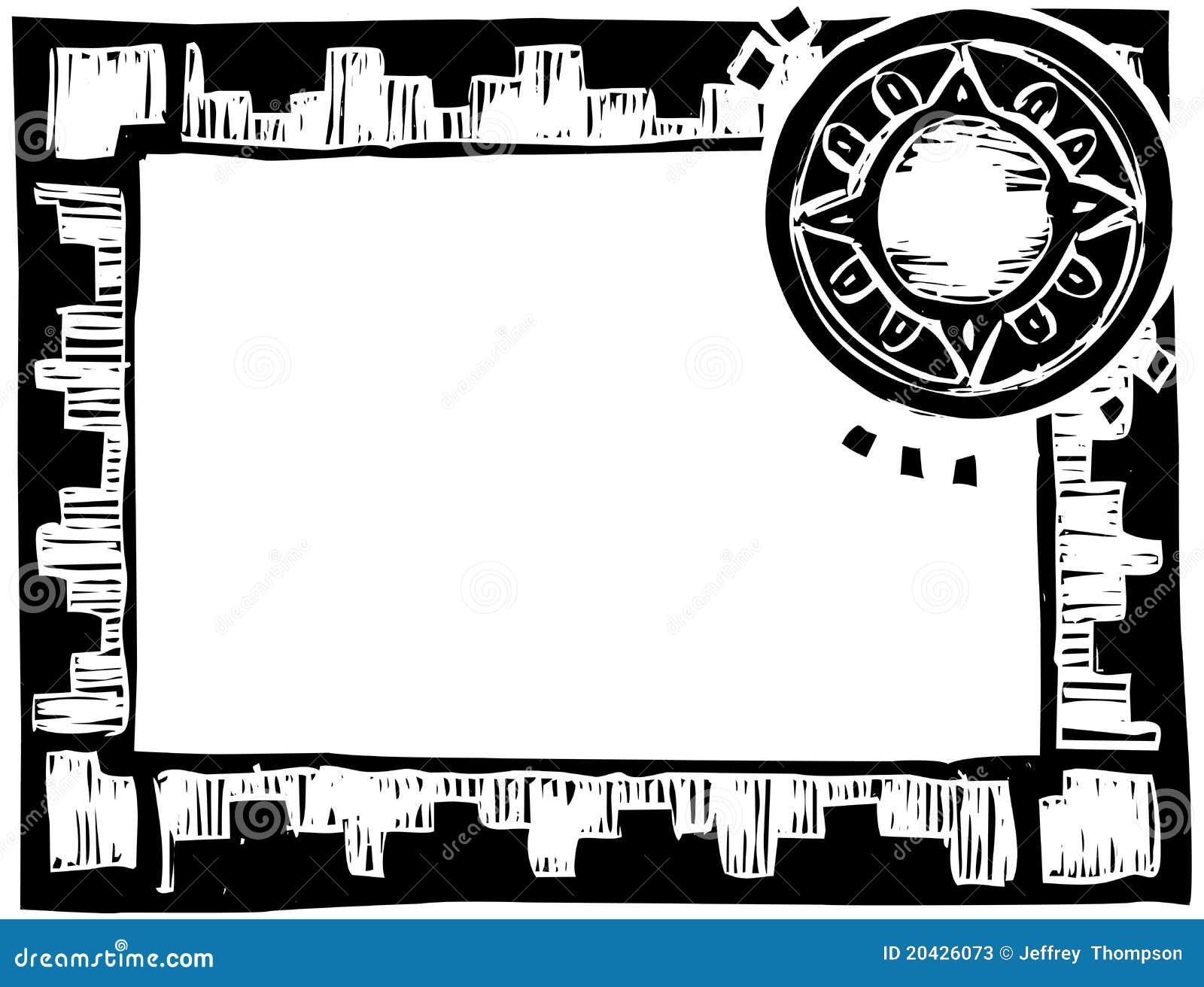cadre africain avec le cercle photos stock image 20426073. Black Bedroom Furniture Sets. Home Design Ideas