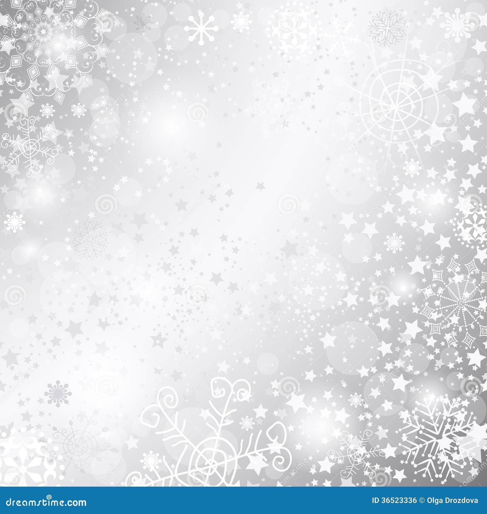 Cadre argenté de Noël