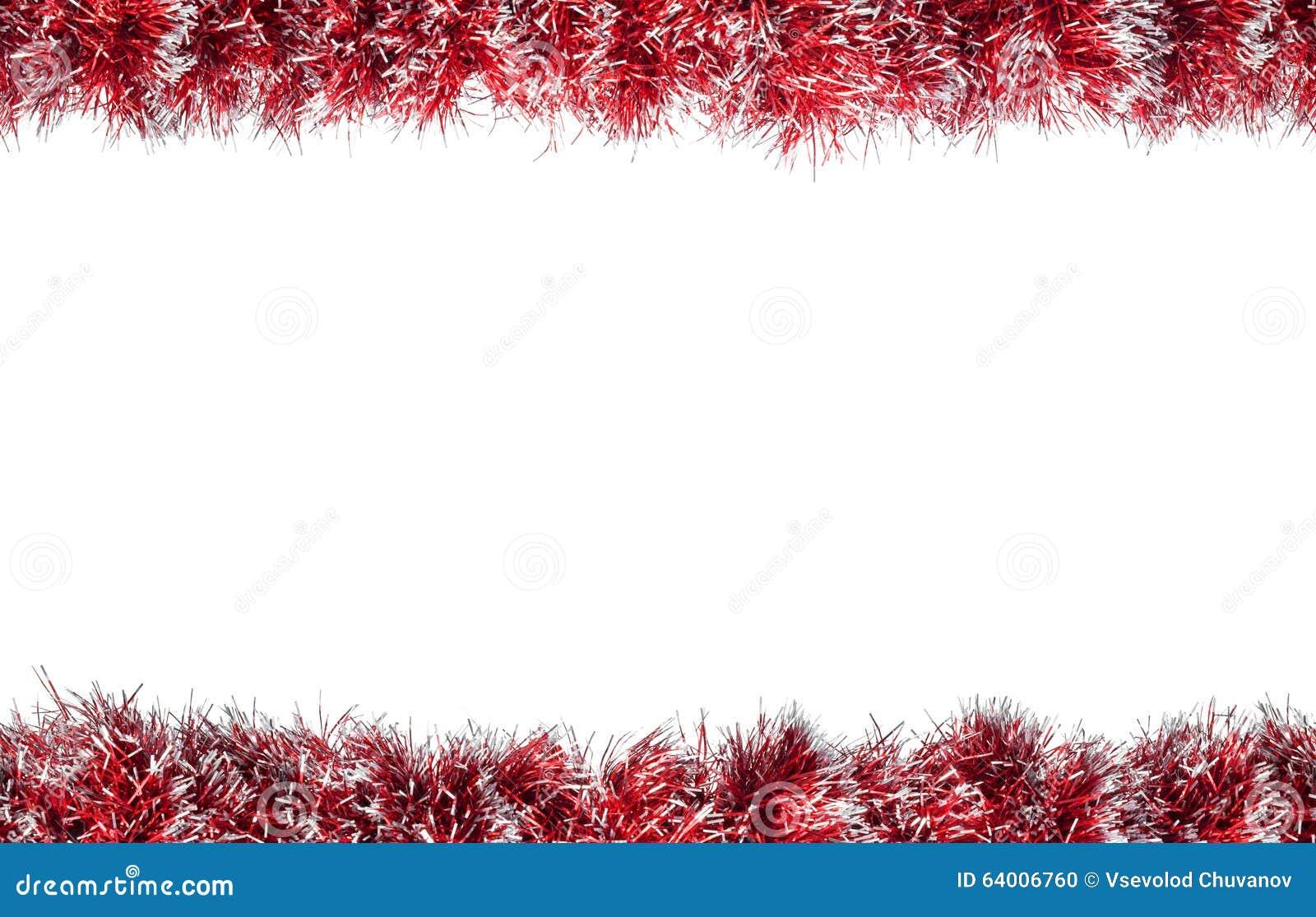 cadre argent rouge de tresse de no l sans couture d 39 isolement sur un fond blanc photo stock. Black Bedroom Furniture Sets. Home Design Ideas