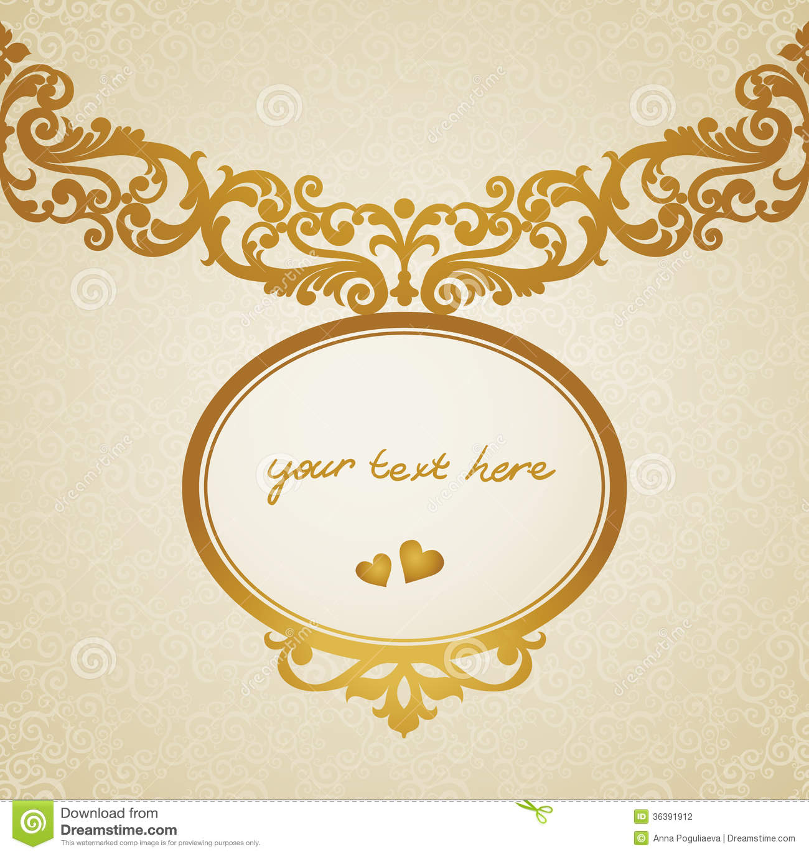 cadre baroque dans le style victorien photographie stock image 36391912. Black Bedroom Furniture Sets. Home Design Ideas