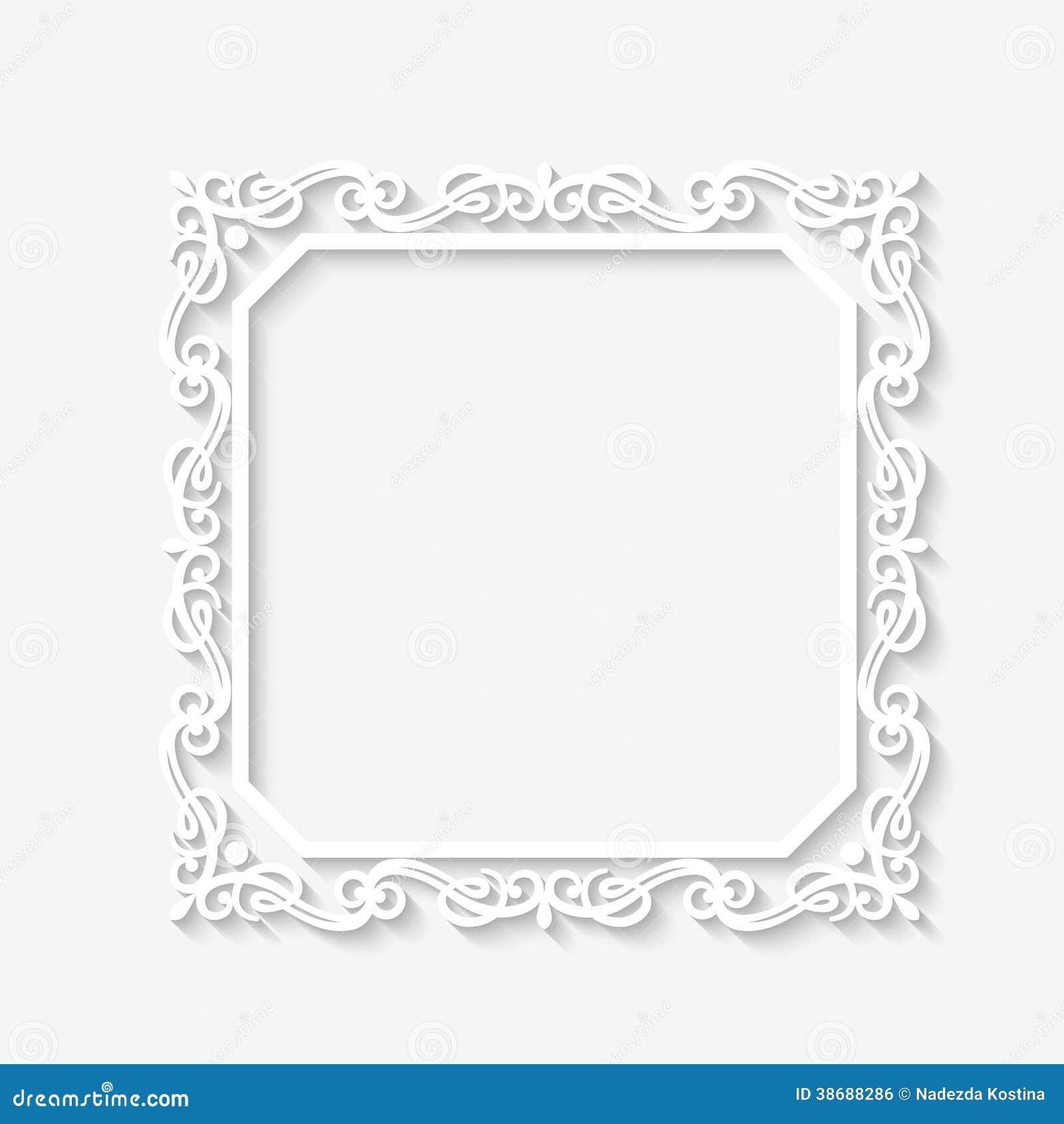 cadre blanc baroque de vintage de vecteur illustration de vecteur image 38688286