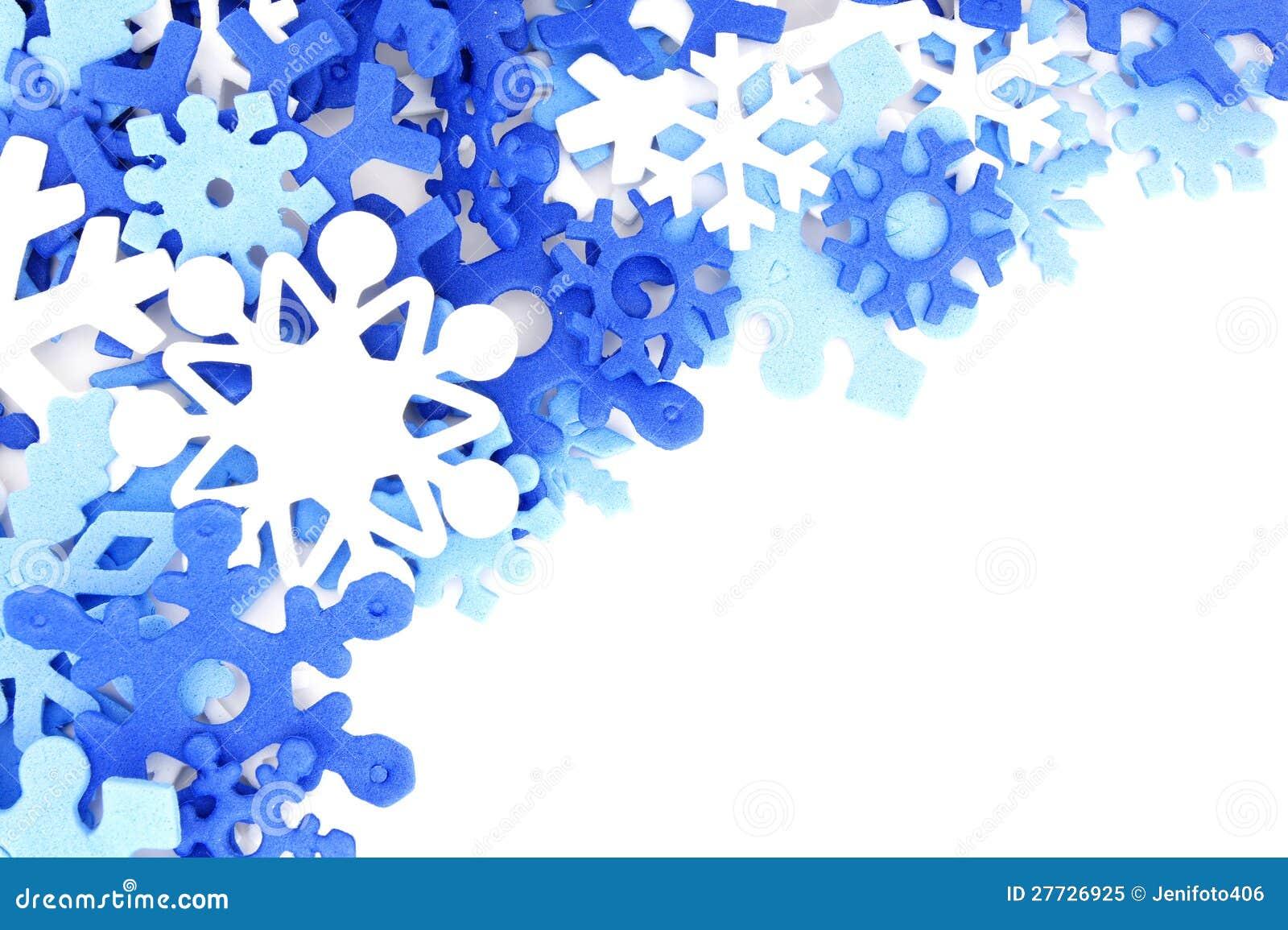 cadre bleu de flocon de neige photo libre de droits image 27726925