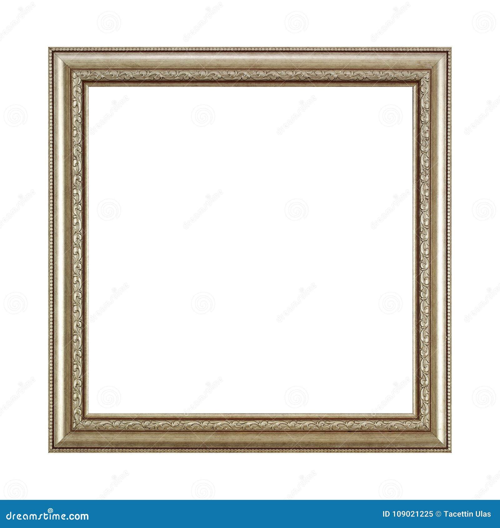 Cadre carré en bois argenté