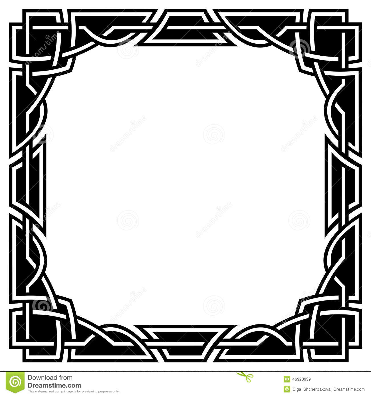 Simple square frame clipart