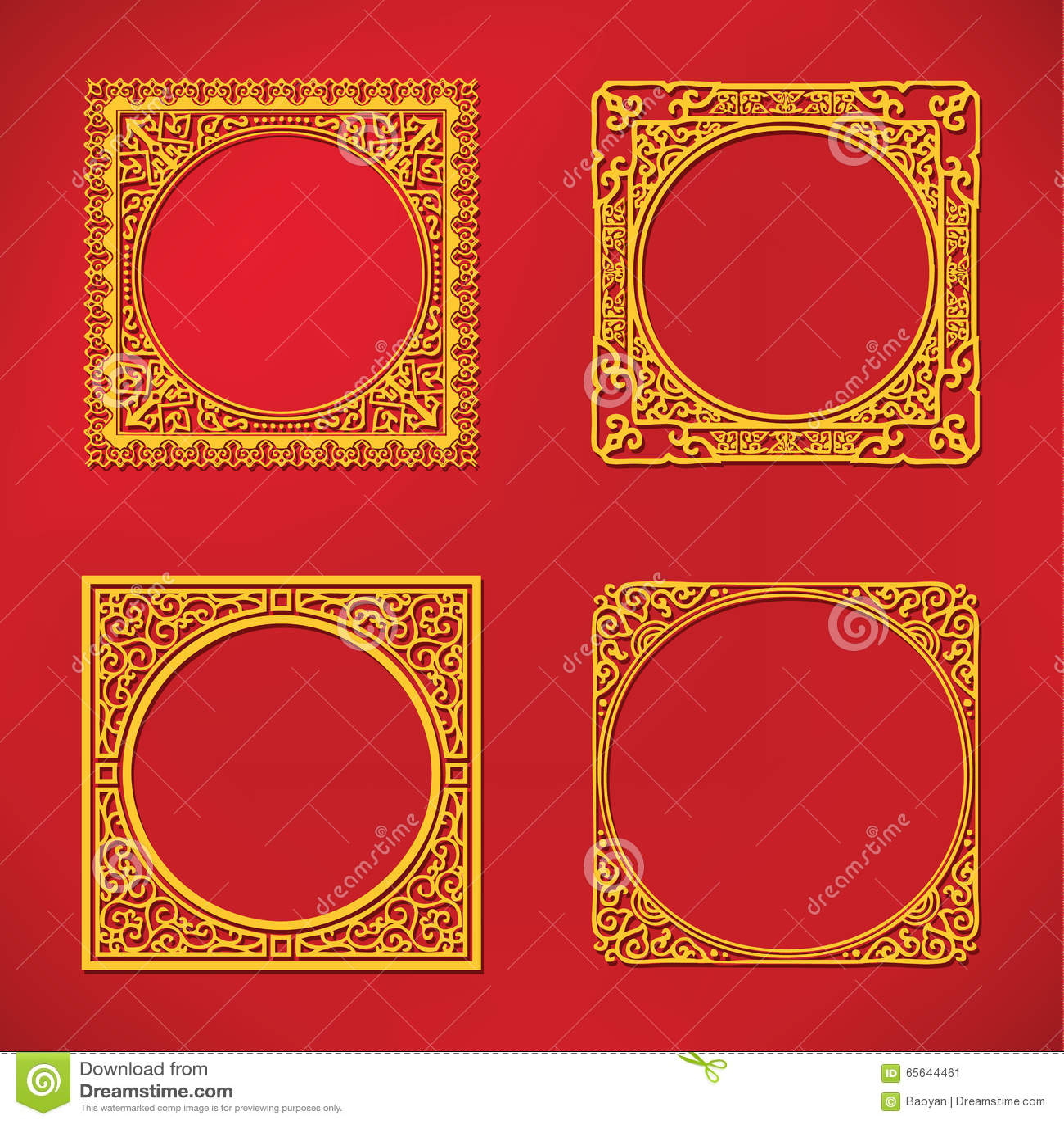 Cadre chinois de modèle de nouvelle année