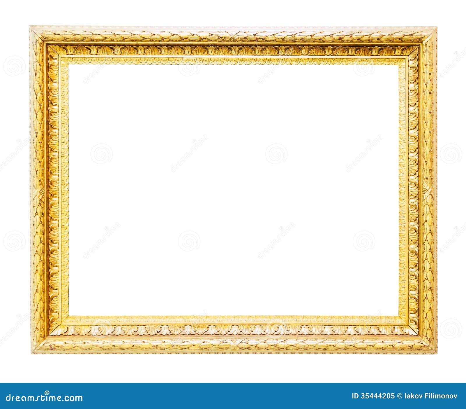 cadre classique d 39 or image stock image du richesse vieux 35444205. Black Bedroom Furniture Sets. Home Design Ideas